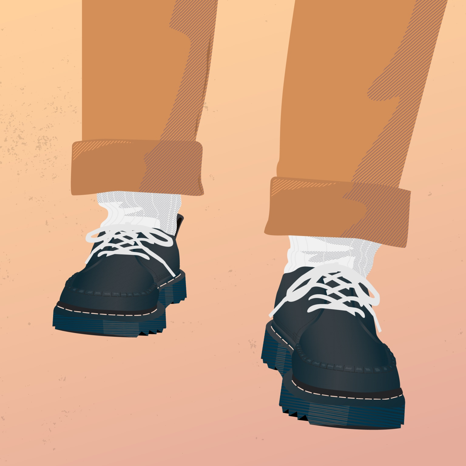 nanamica x Dr. Martens Derbys Illustration