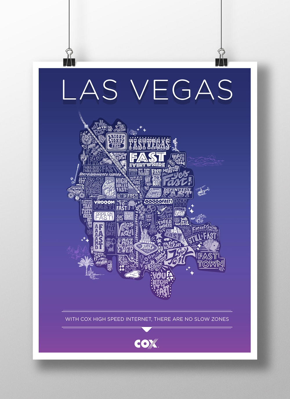 """Cox Communications """"Fast Everywhere"""" Posters"""