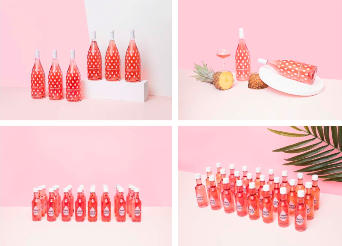 Art Direction for Winc Summer Water Campaign