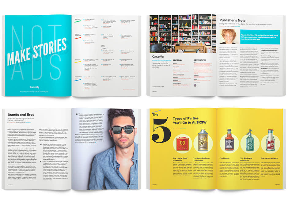 Contently Brand Update and Publication Design