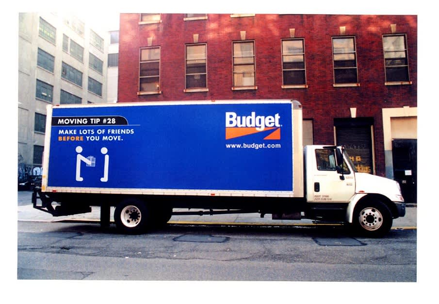 Mobile media for Budget's new Truck rental service