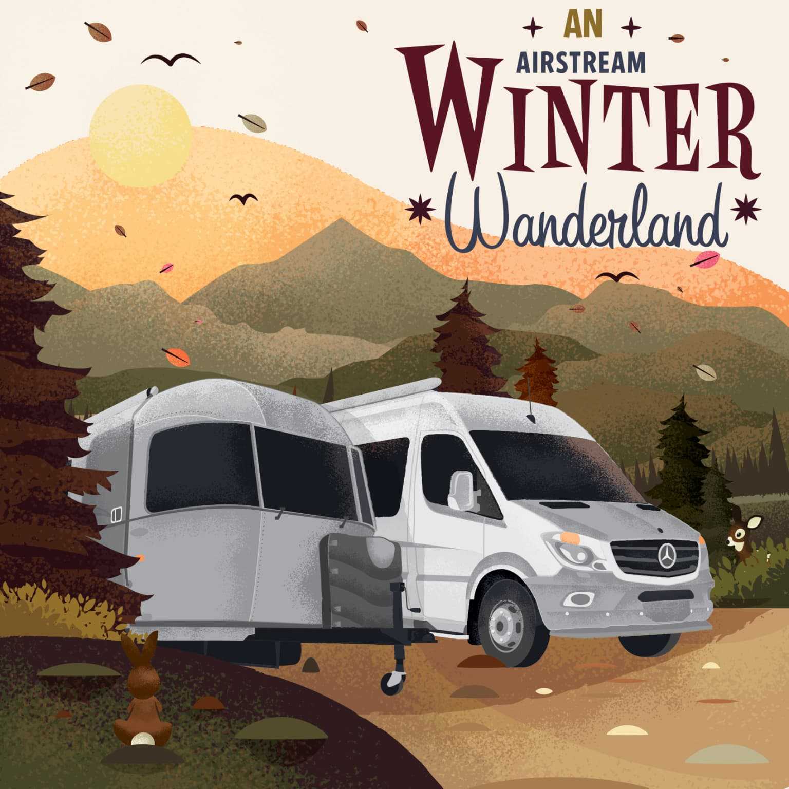 Airstream Winter Wonderland