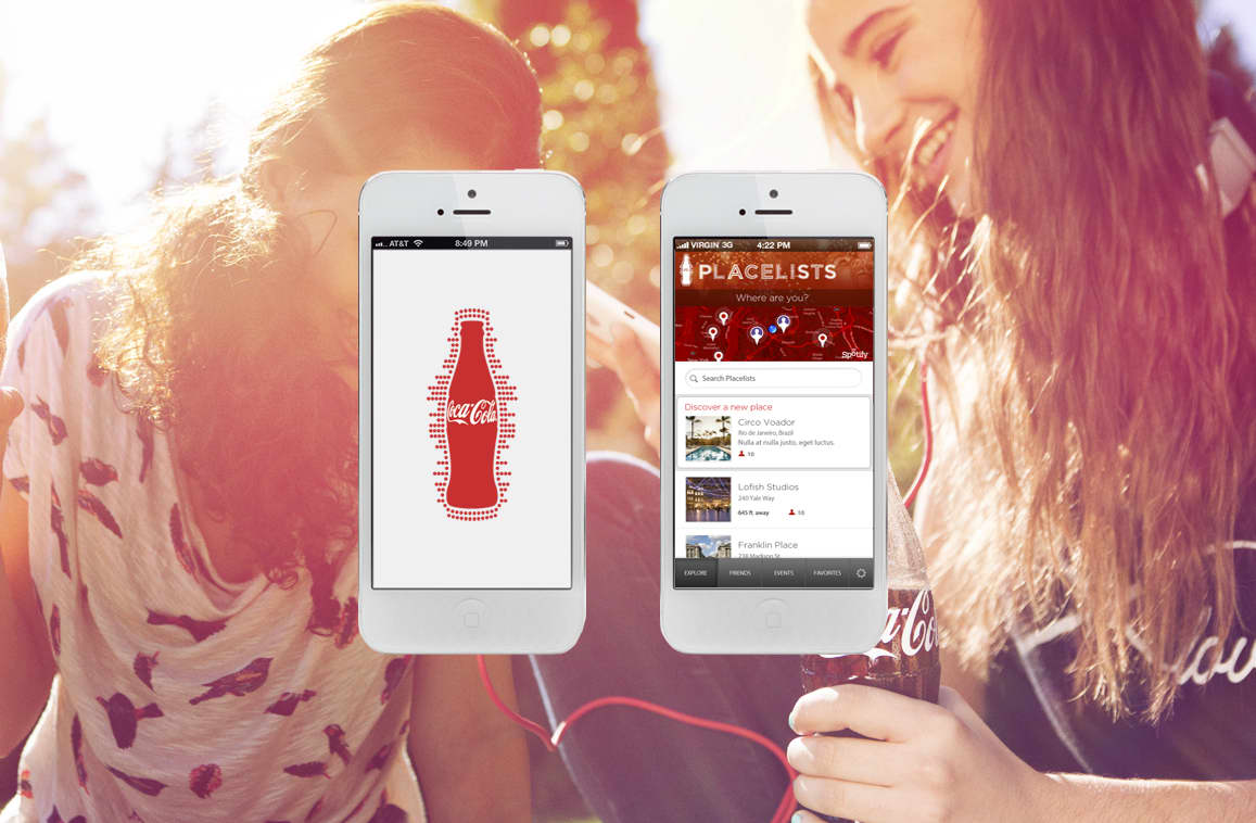 Coca Cola + Spotify Placelists