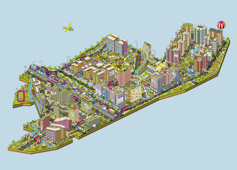 Bhartiya City - City of Joy - Advertising Campaign Map