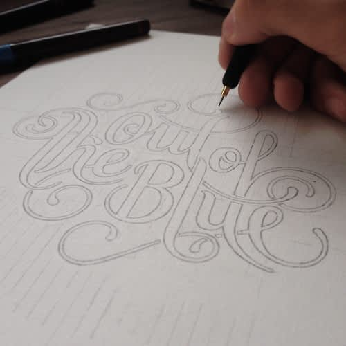 Out of the Blue.A4 - 0.10mm dots.Full project on BEHANCE.Prints...