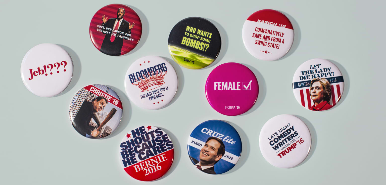 Rejected Political Pins