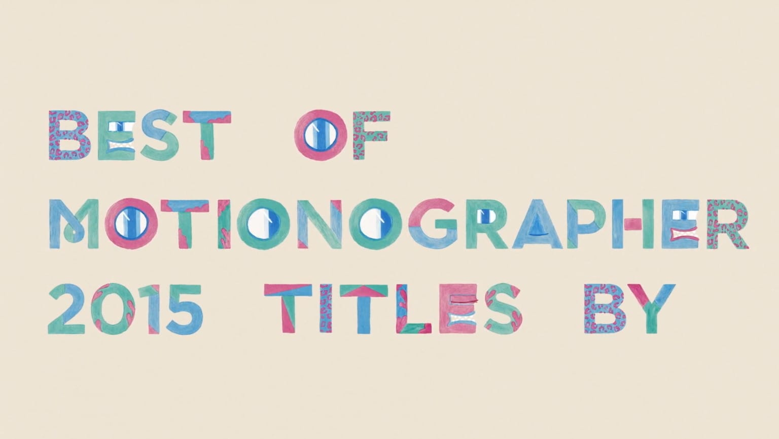 Best of Motionographer Titles for F5 Festival