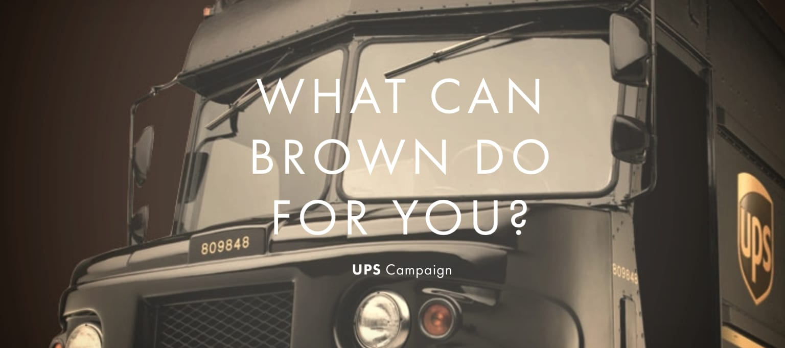 UPS - What Can Brown Do For You?