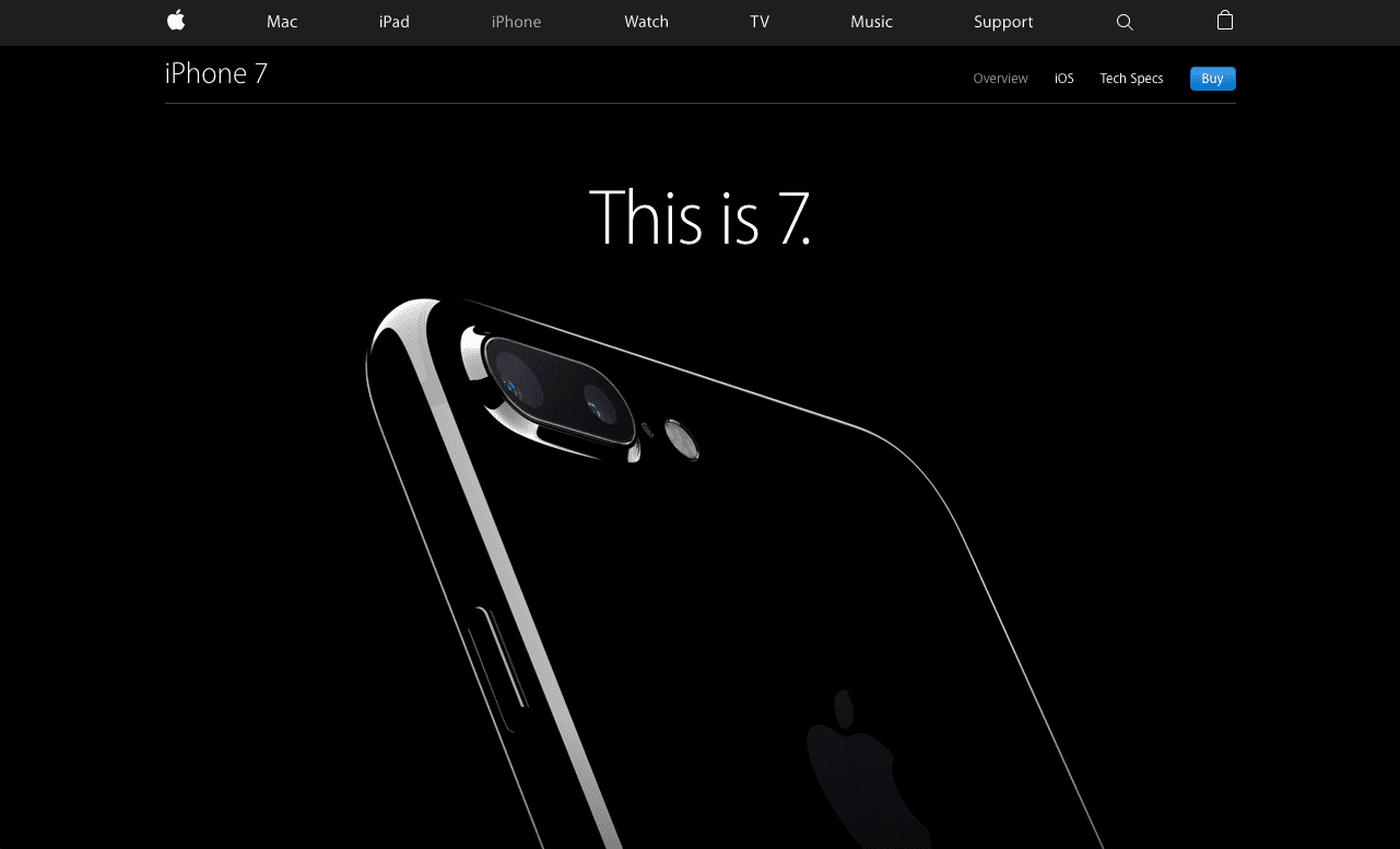 iPhone 7 Product Website