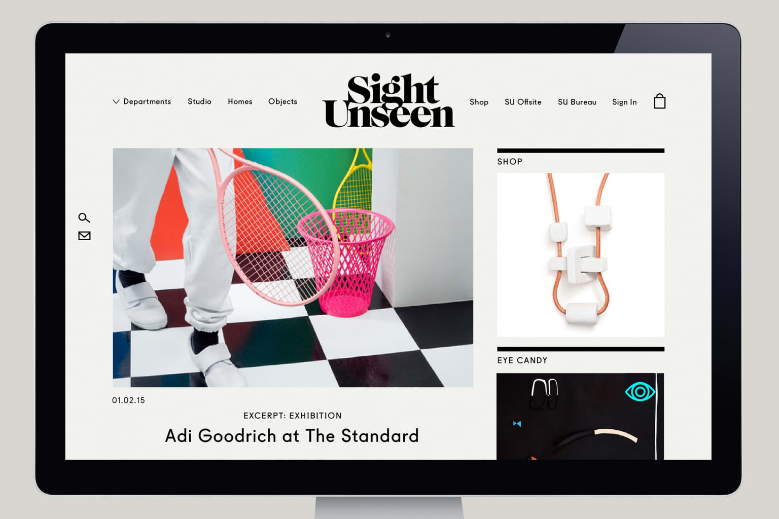 Sight Unseen Web Redesign