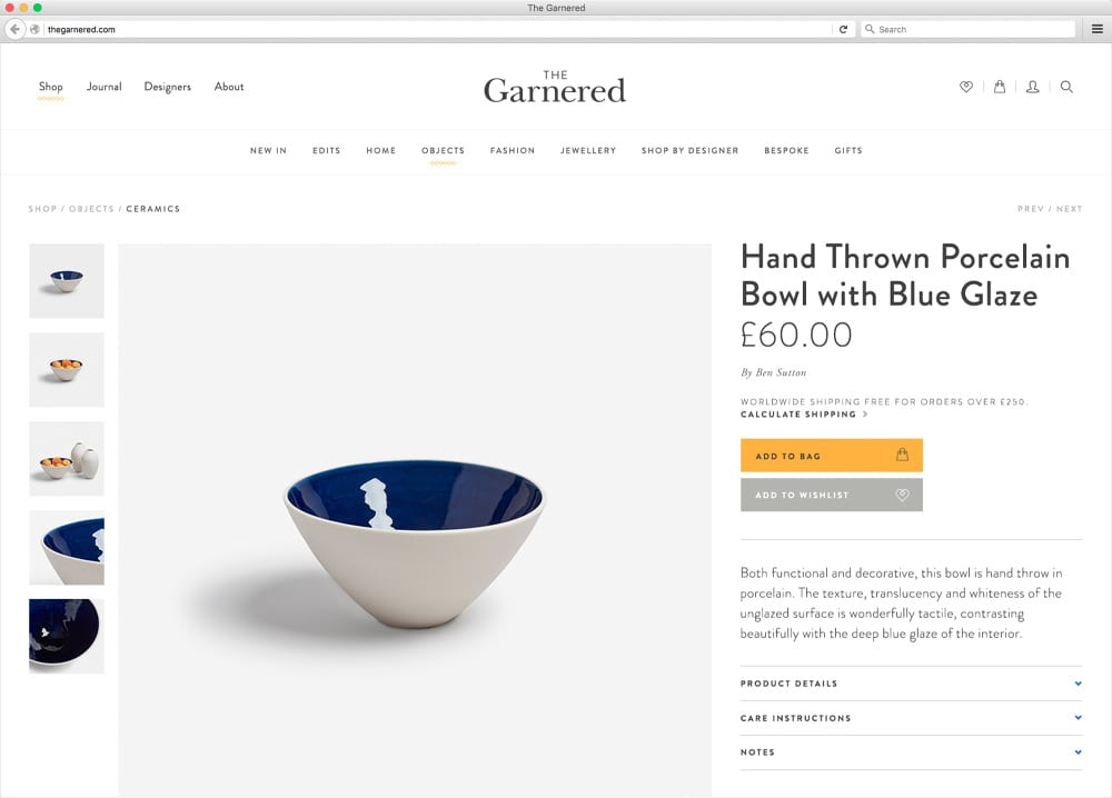 The Garnered Online Store