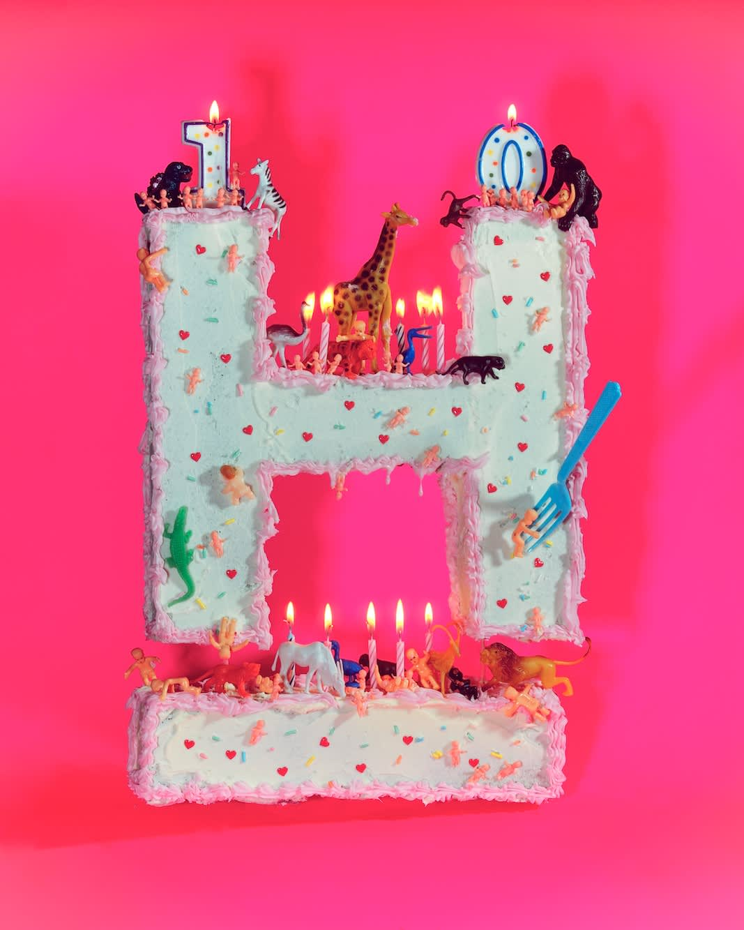10th anniversary cake for Hyphen magazine cover