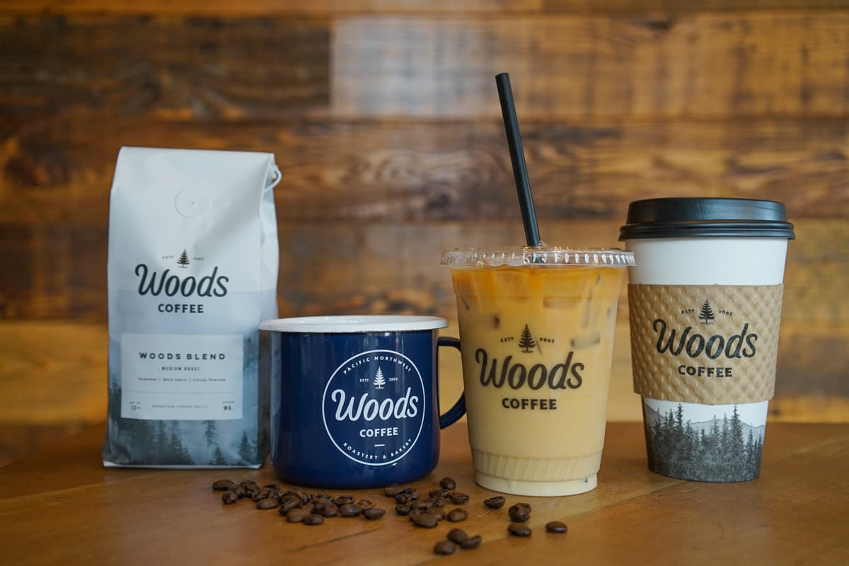 Woods Coffee Branding