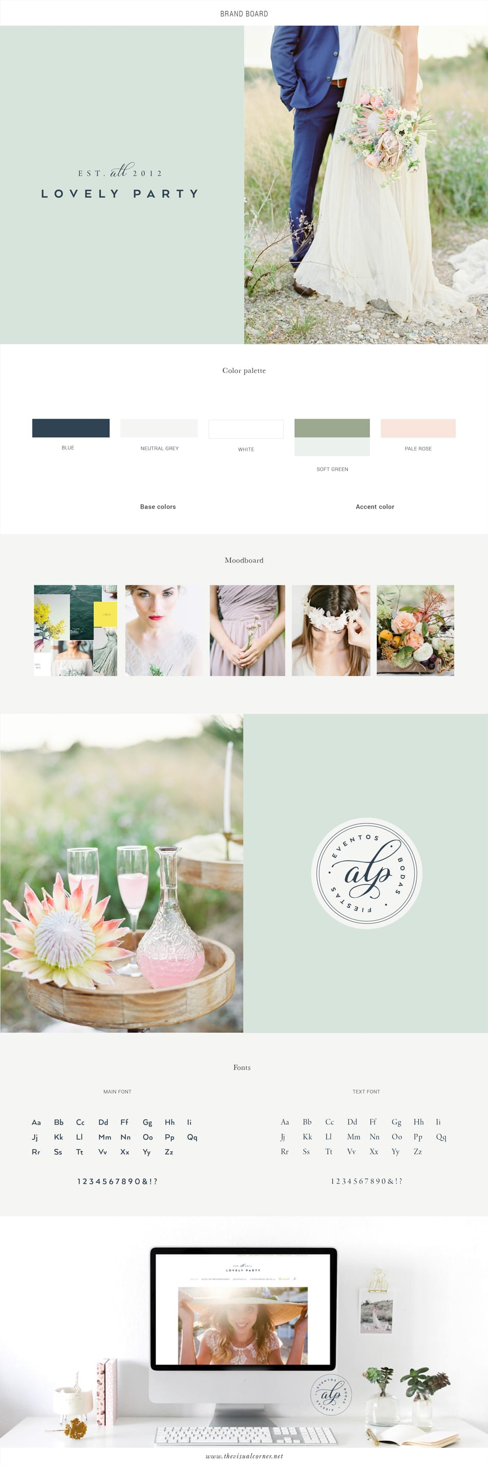 Re-Branding and Web Design for All Lovely Party