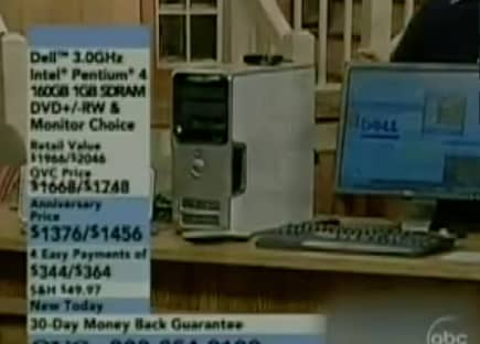 QVC caller loves his Dell