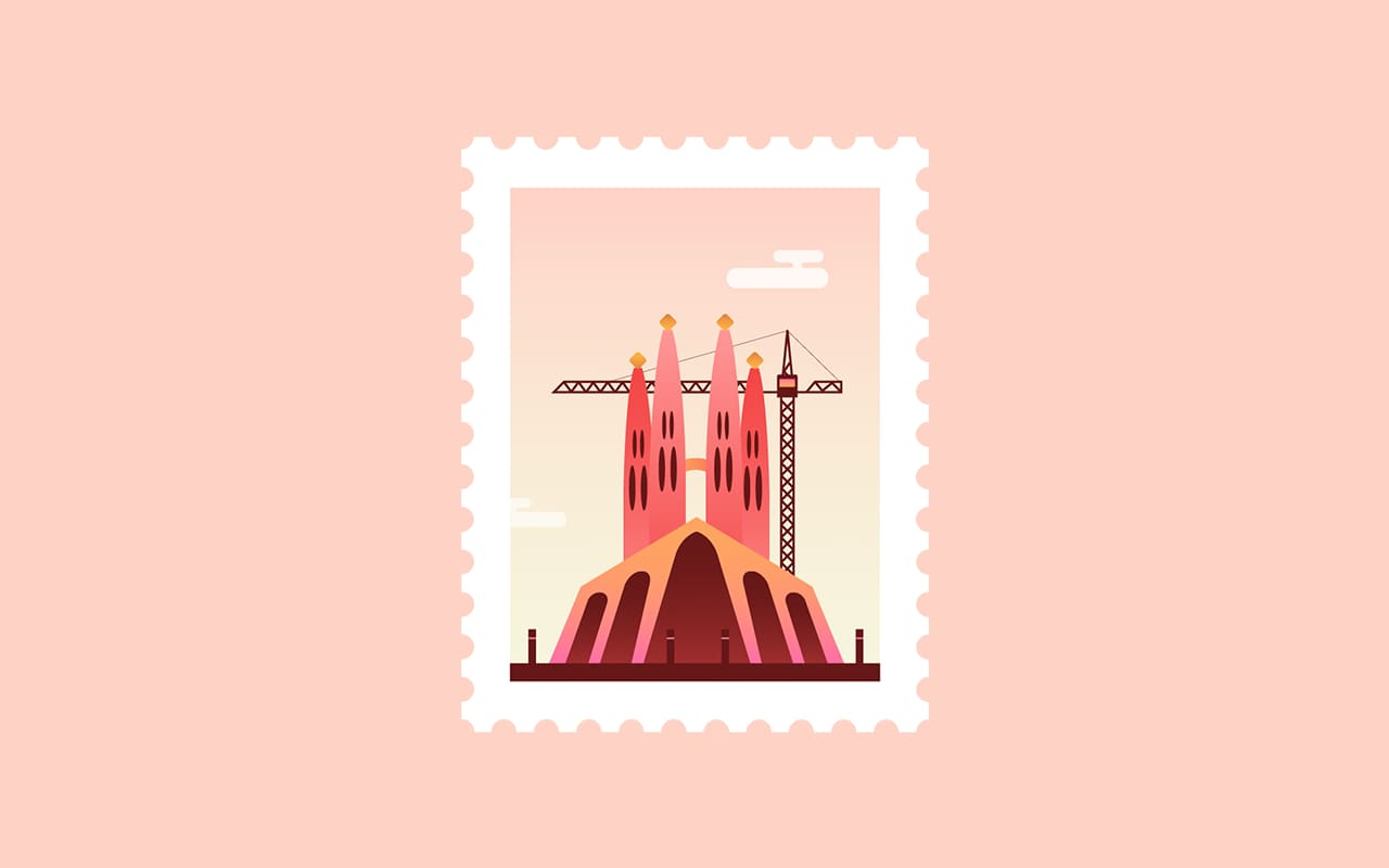 Animated post stamps