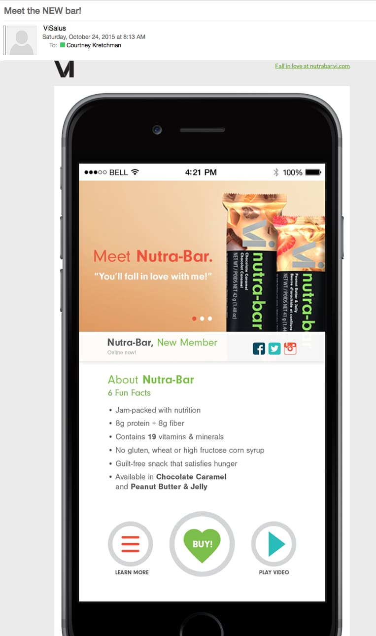 Product Launch Campaign: Vi Nutra-Bar
