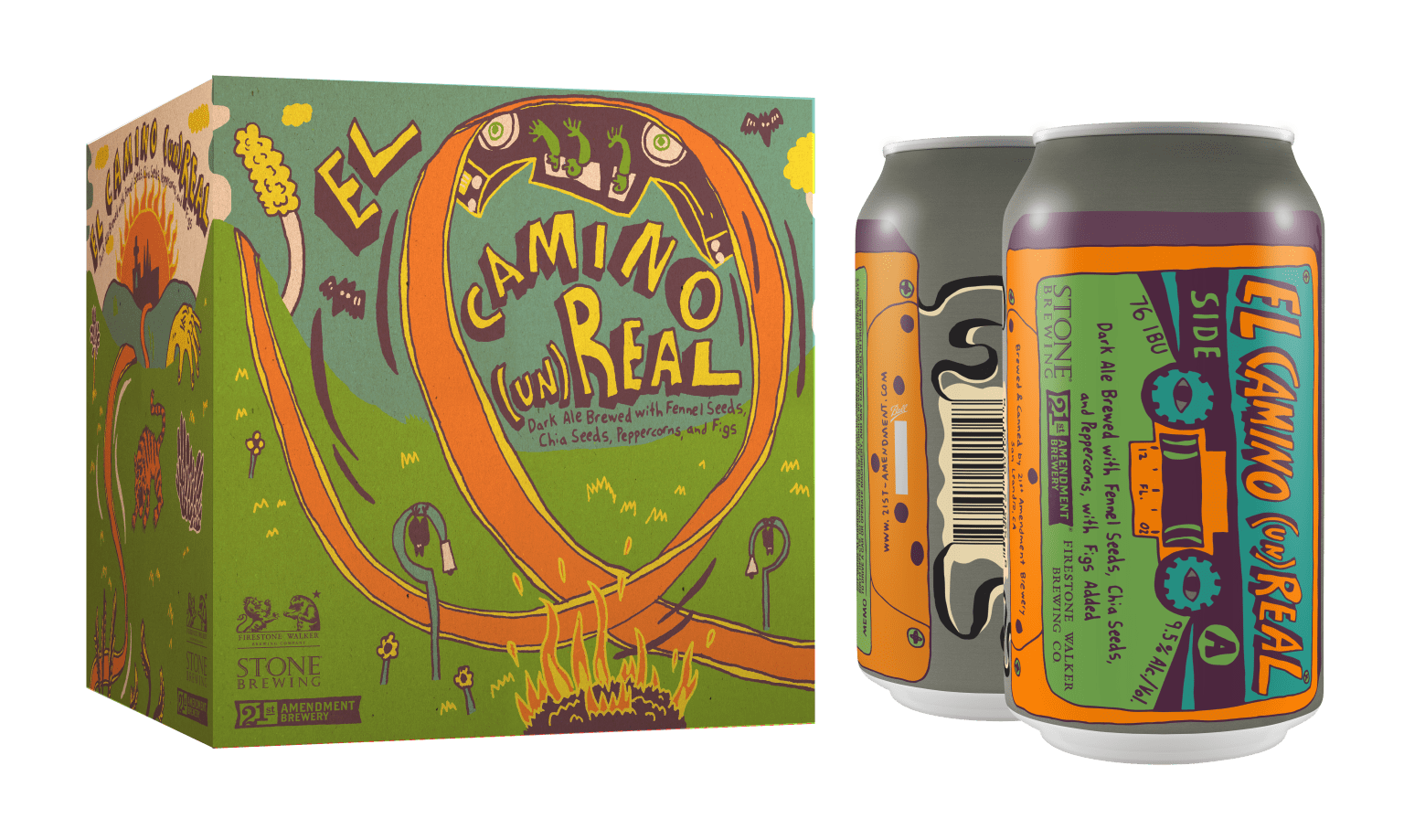 El Camino (un)Royal Can & Box Design - 21st Amendment Brewery