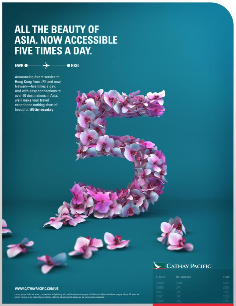 Cathay Pacific New Jersey Launch Campaign