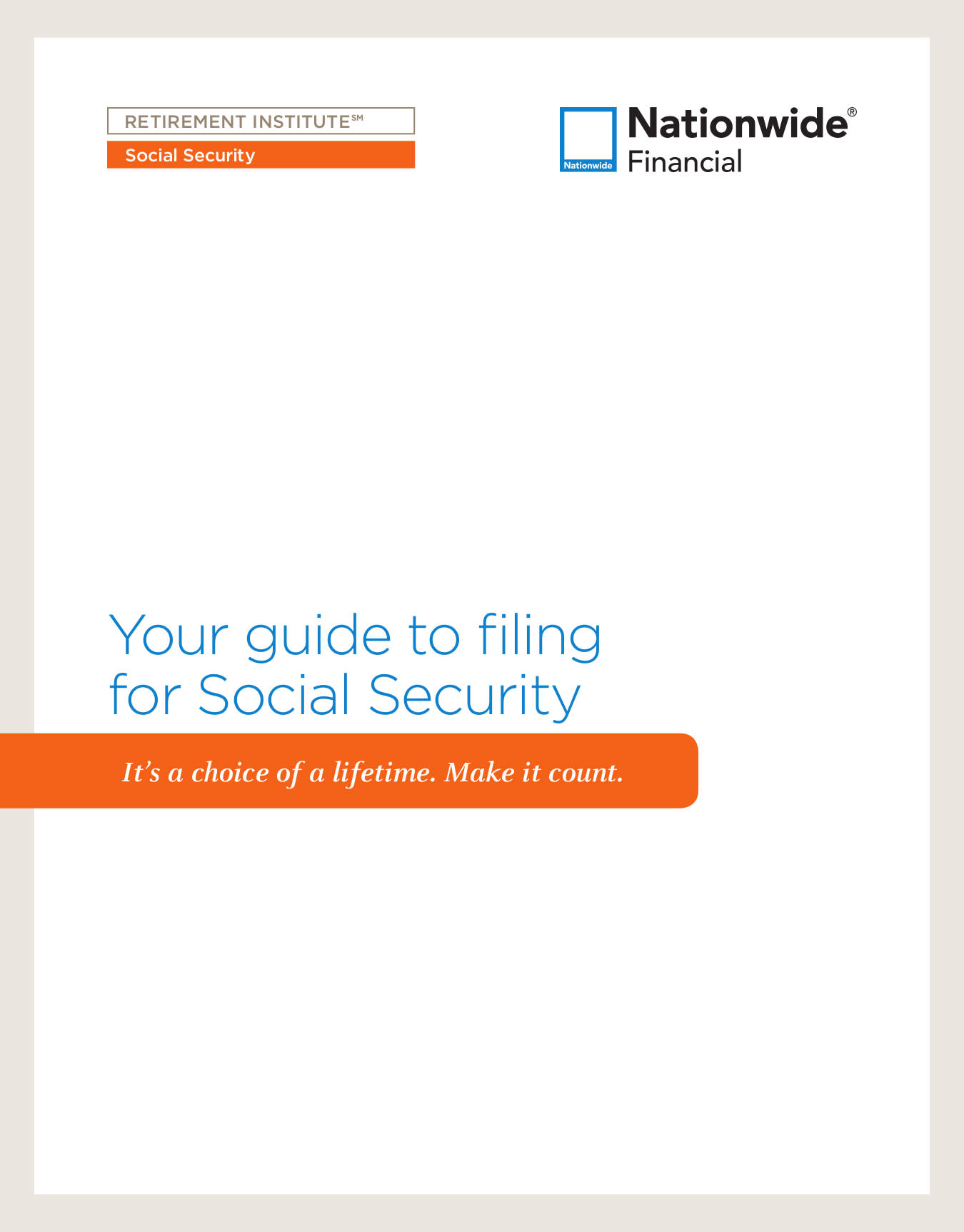 Your guide to filing for social security