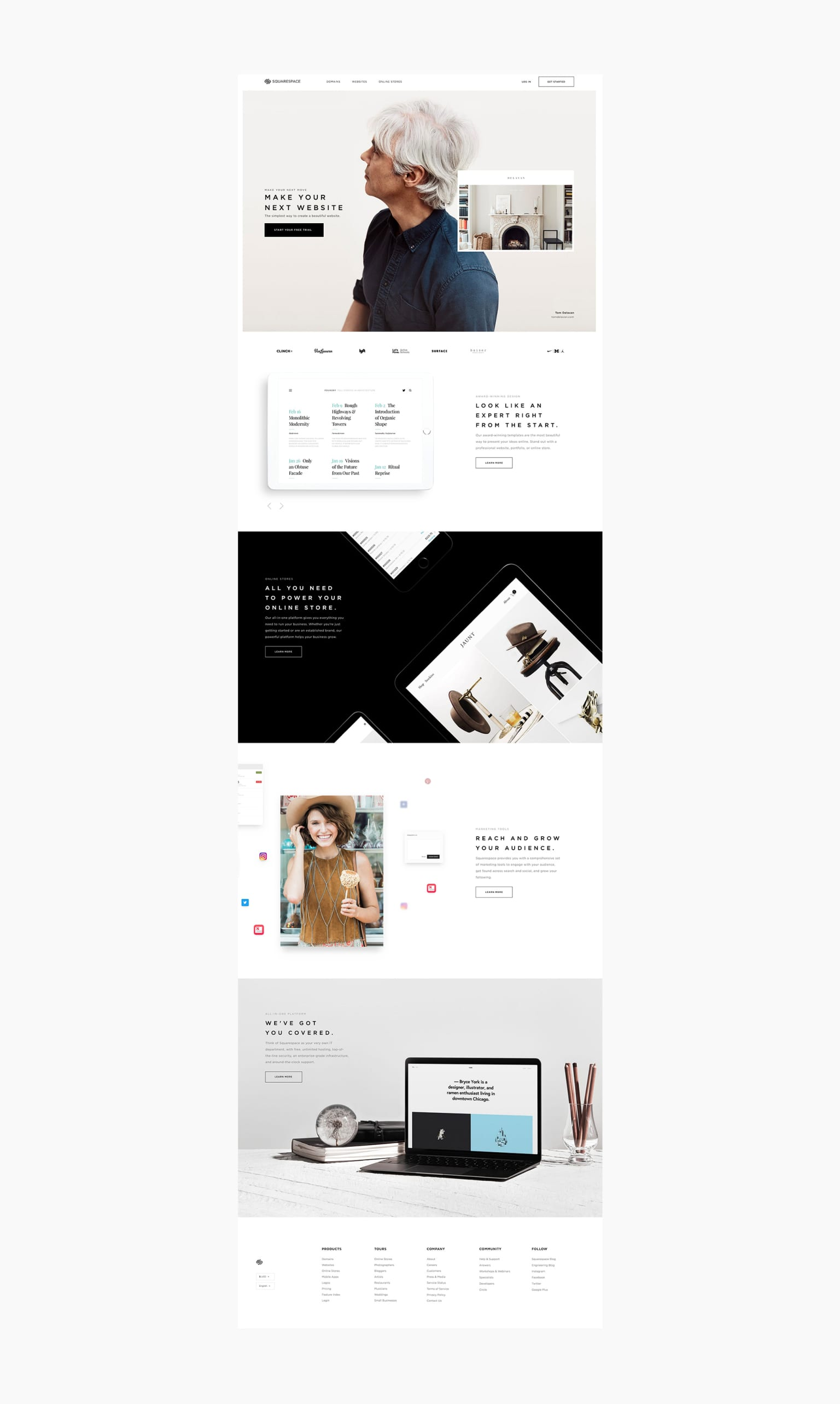 Squarespace Re-Design