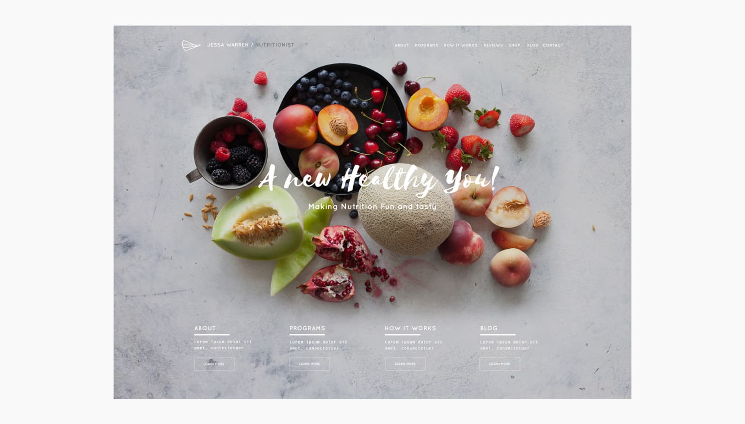 Squarespace Nutritionist Template
