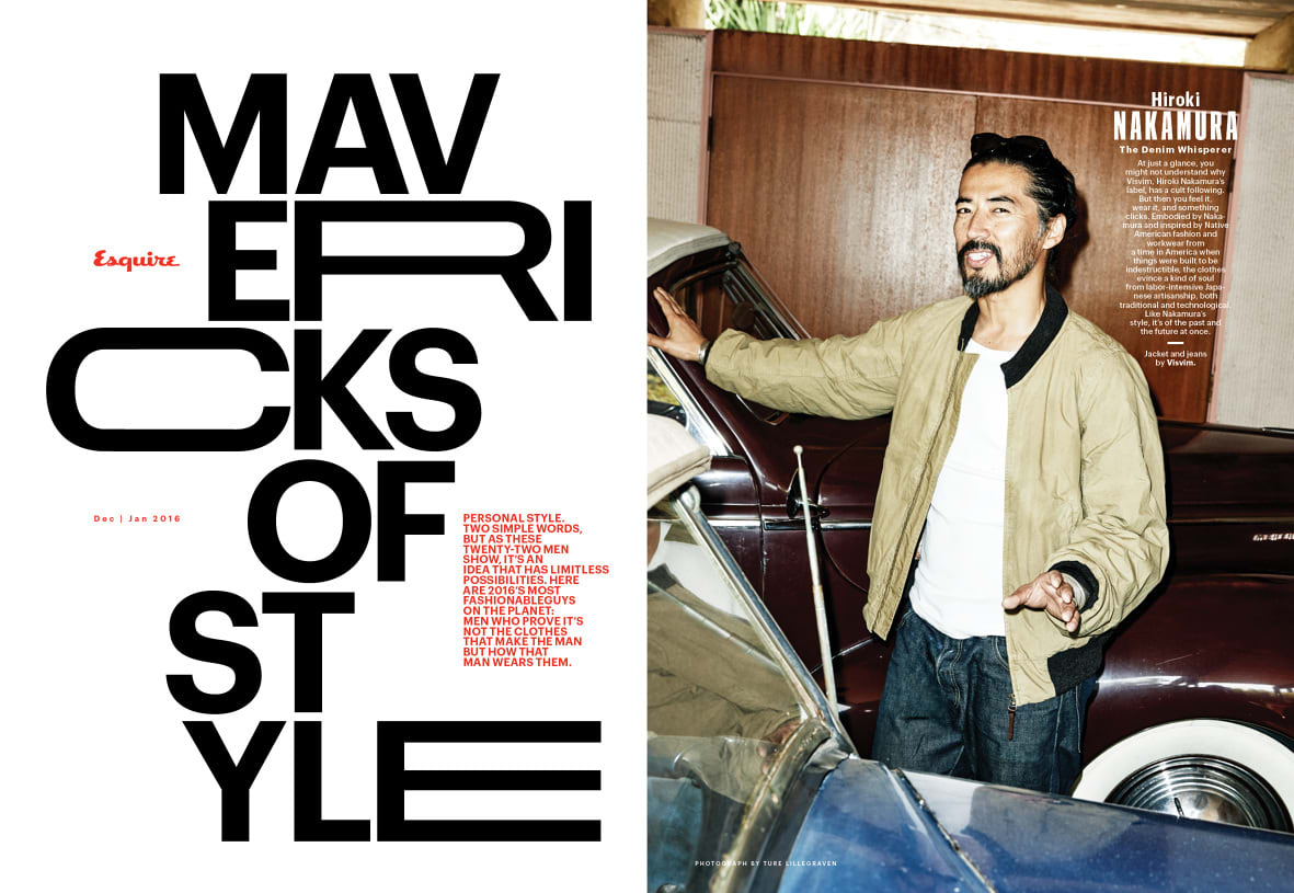 Esquire, Feature story design and typography