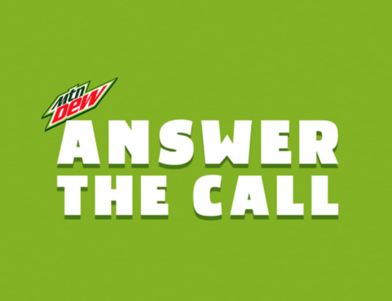"""Mountain Dew """"Call of the Wild"""""""