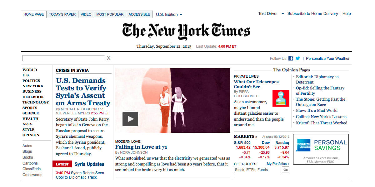 New York Times, Modern Love
