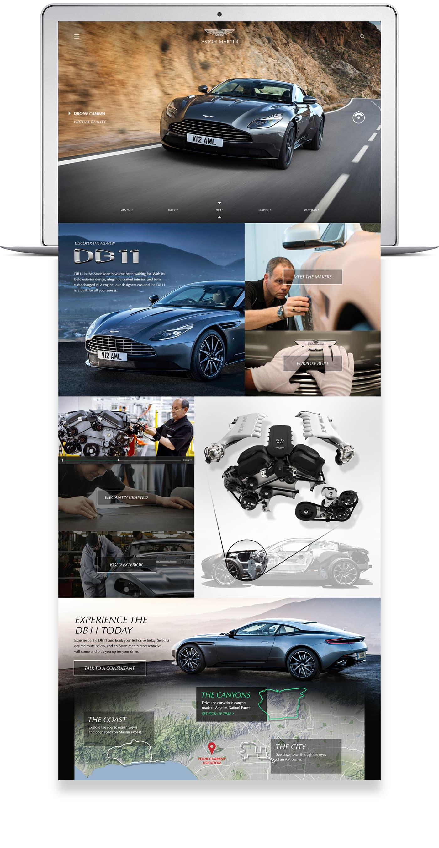 Aston Martin Digital: Website Design and Brand Strategy
