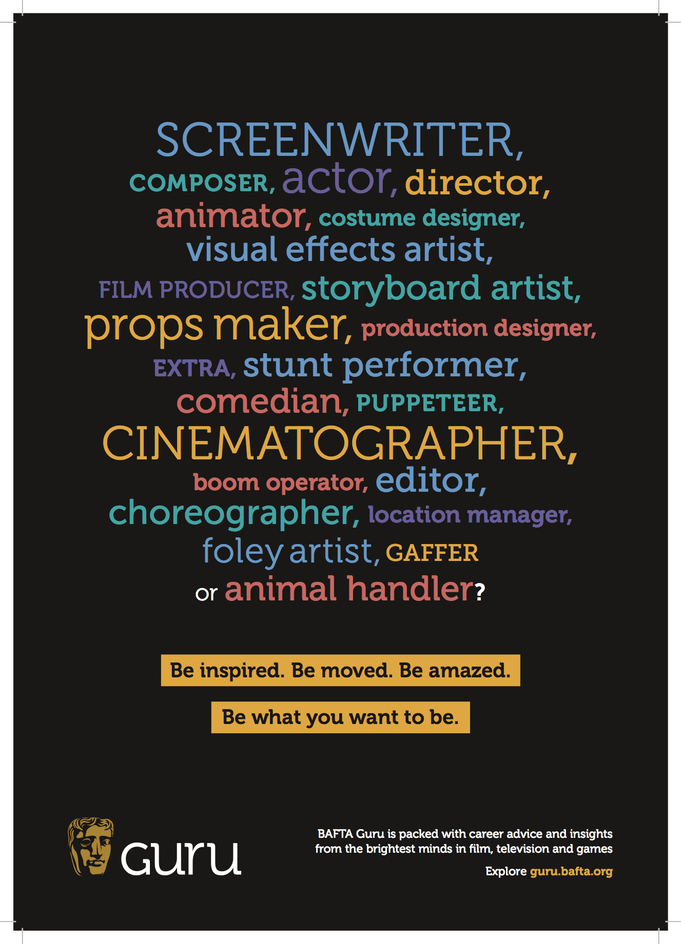 BAFTA ad campaign and tone of voice guidelines