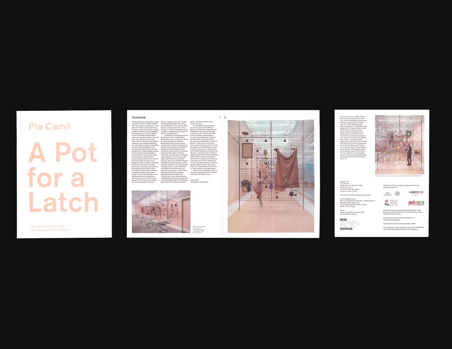 Pia Camil, A Pot for a Latch; Broadsheet