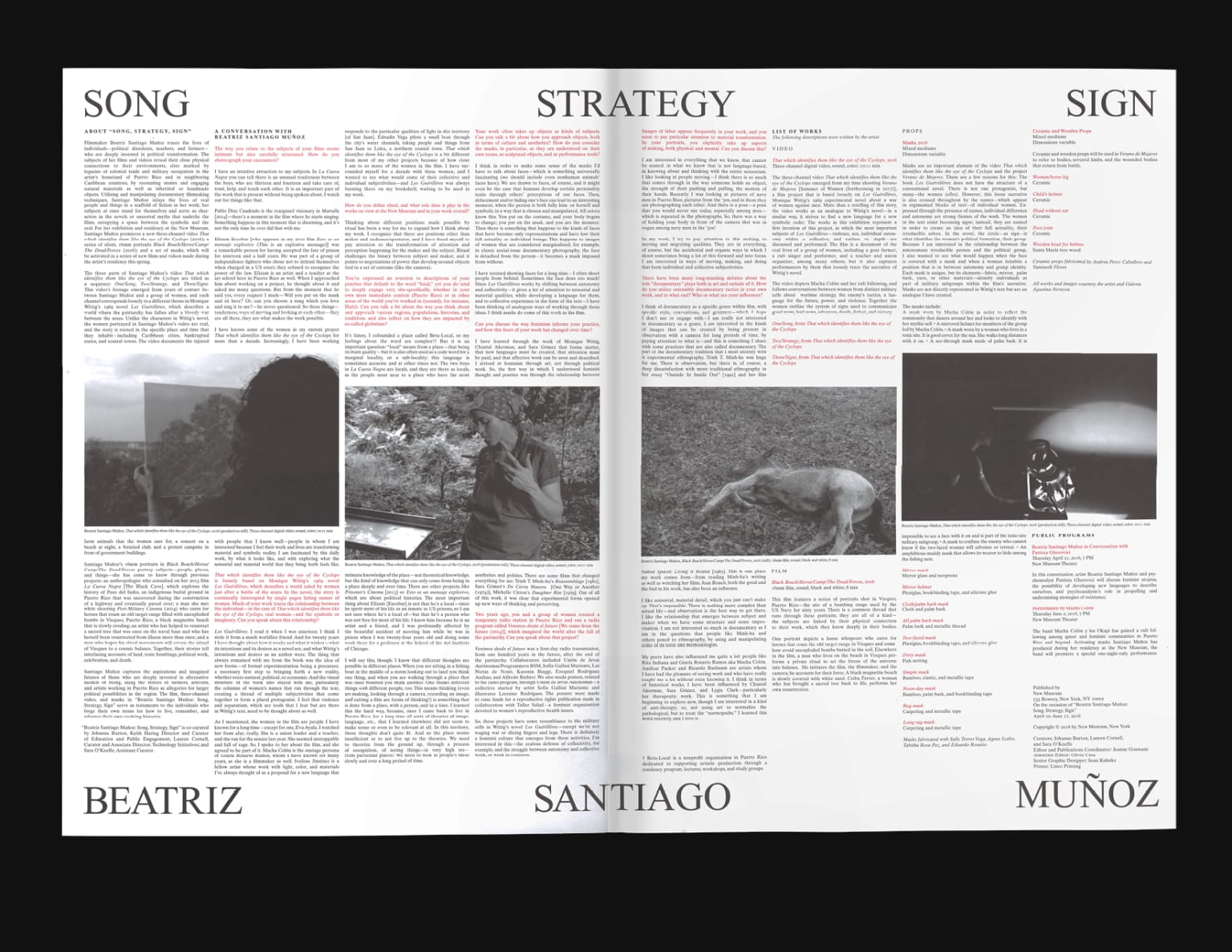 Song, Strategy, Sign Broadsheet