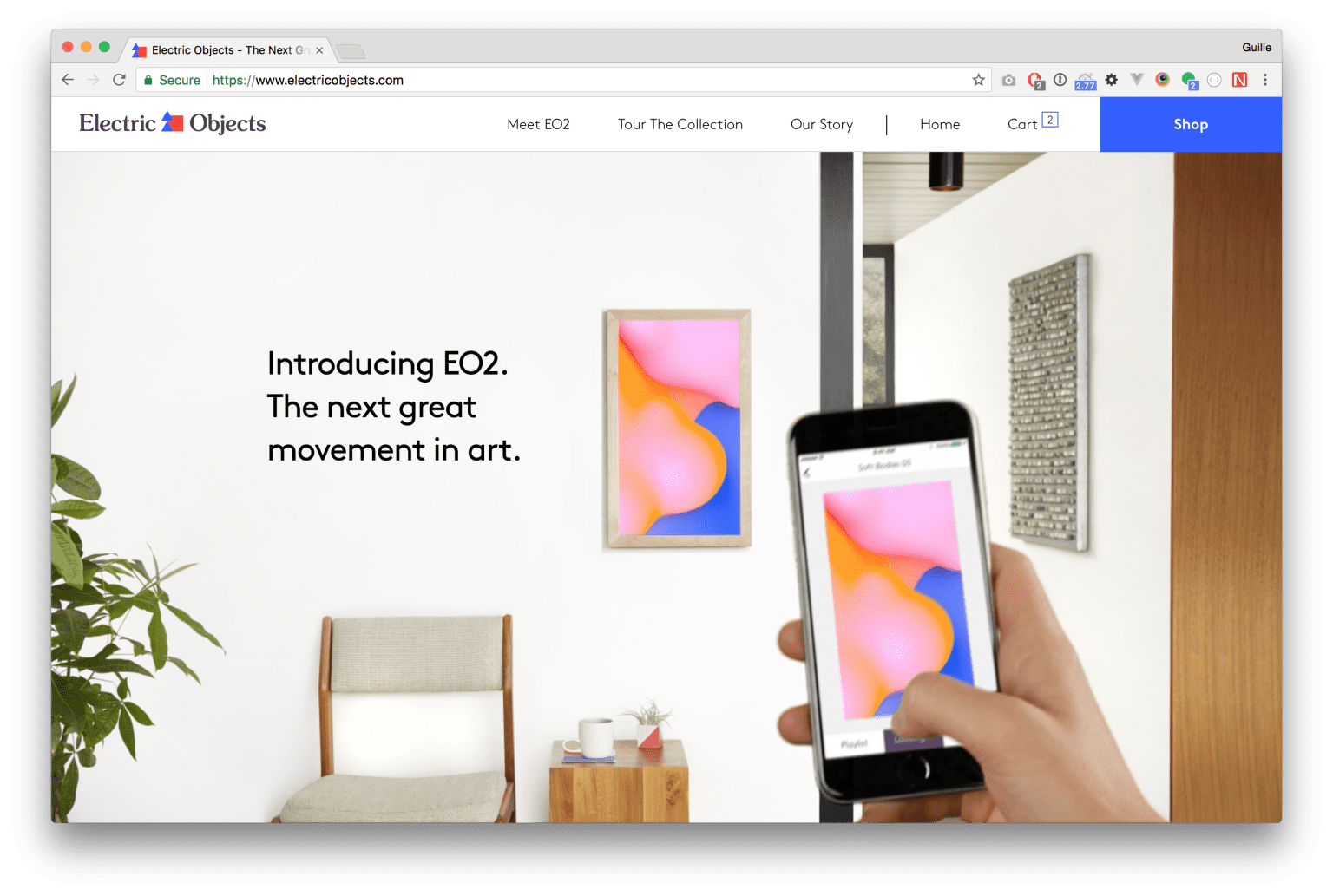 Electric Objects Website