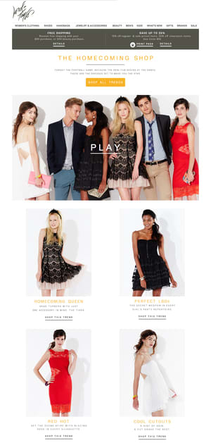"""Lord and Taylor """"Homecoming"""" Editorial"""