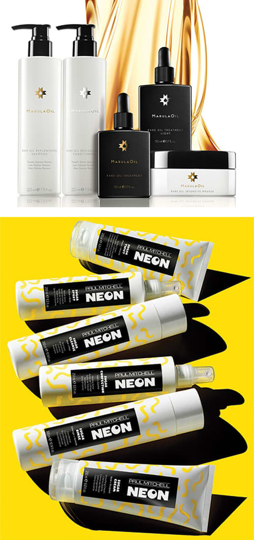 Paul Mitchell // Logos & Packaging Design