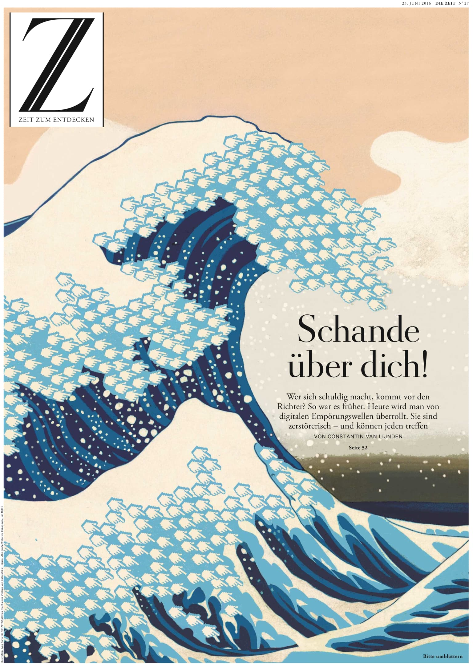 Die Zeit's magazine cover: Shame on you!