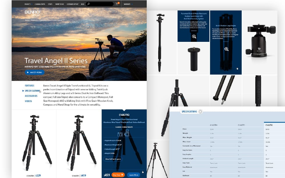 Benro Professional Tripods and Heads