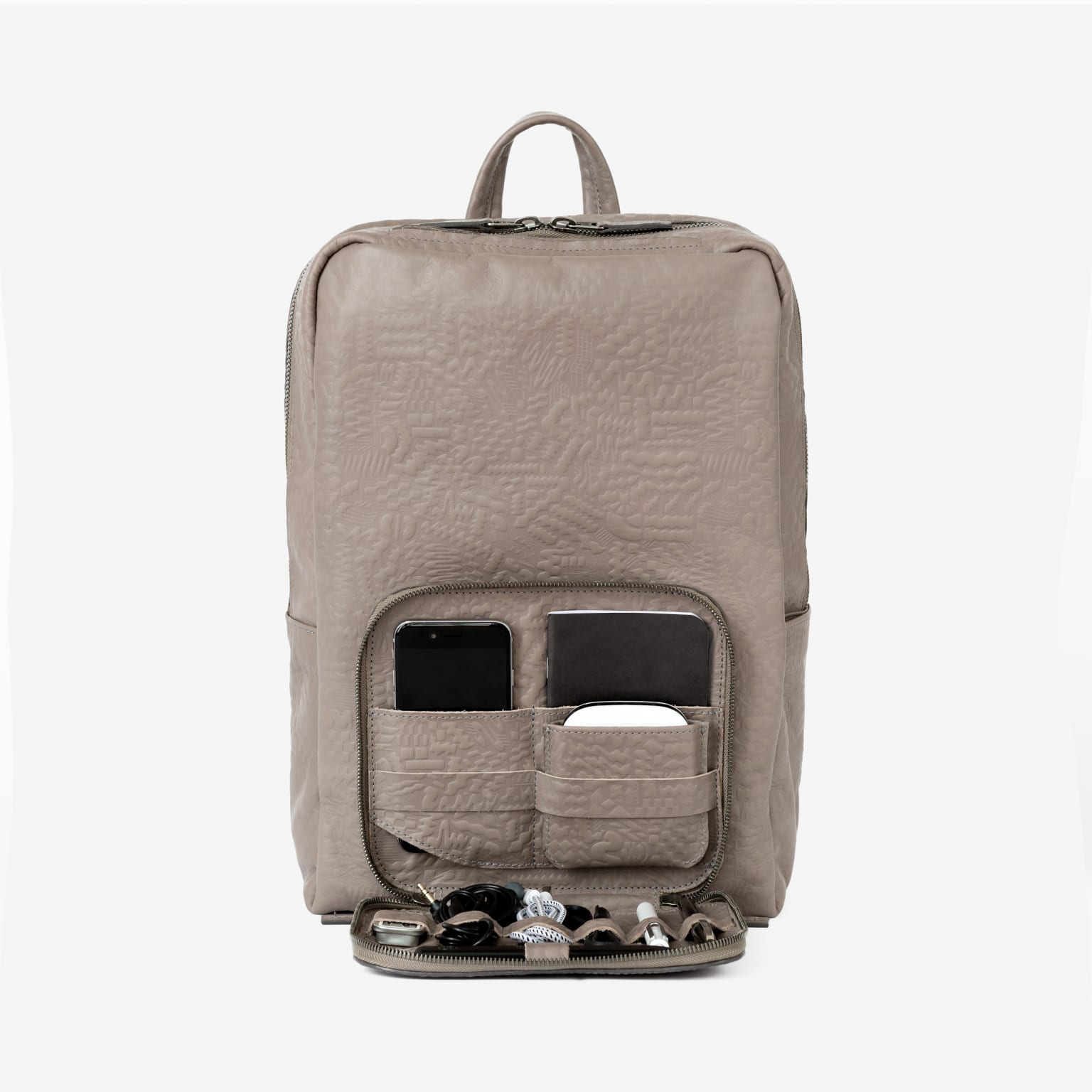 This is Ground / Venture leather backpack Pattern