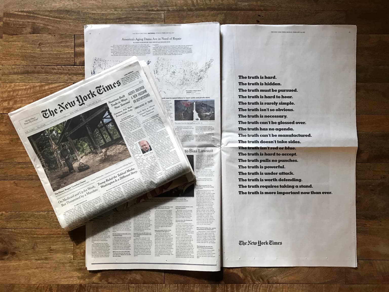 """The New York Times """"The Truth Is"""" Campaign"""