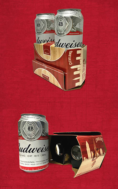BUDWEISER VR VIEWER and BEER HOLDER