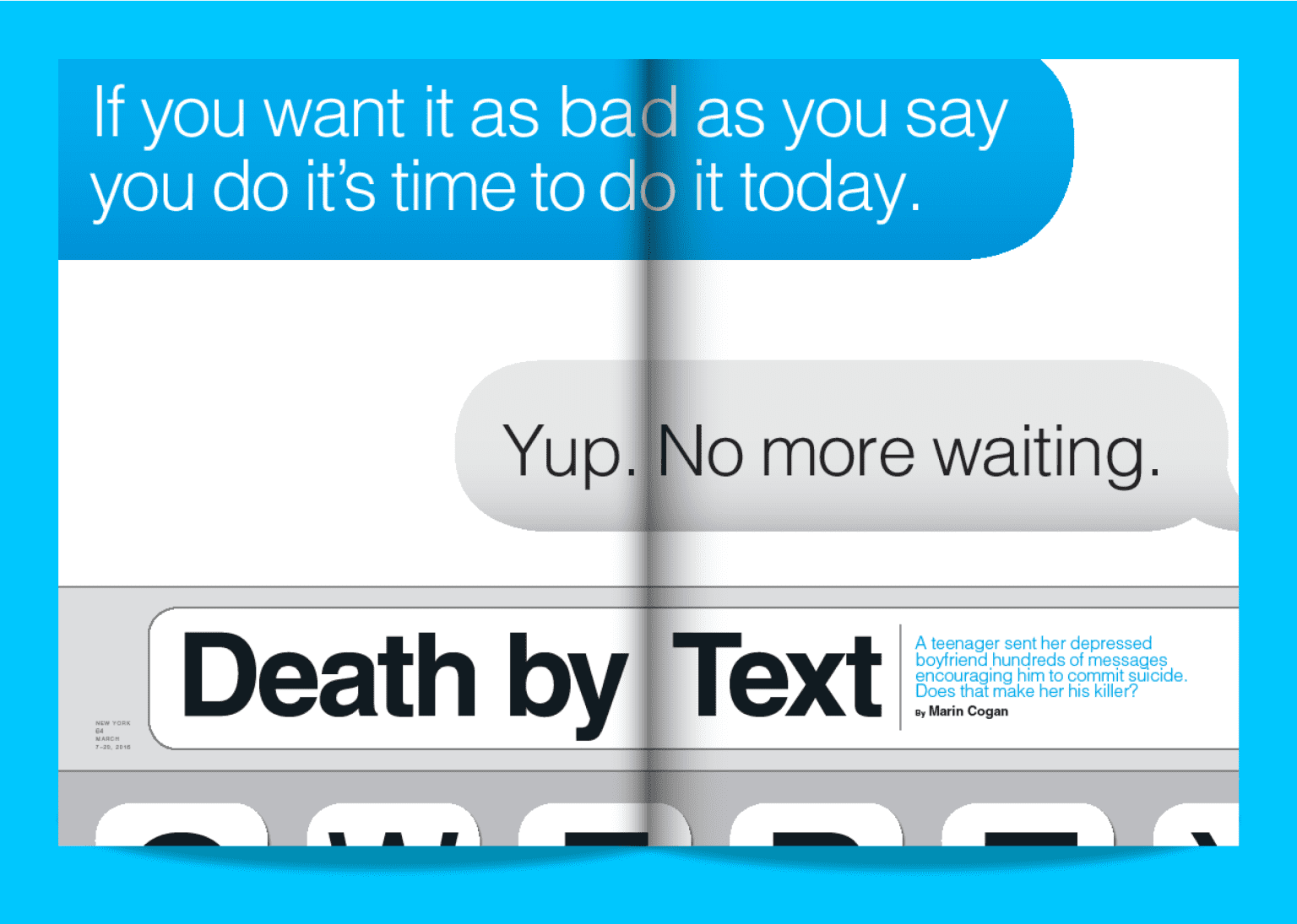 New York Magazine, Death By Text