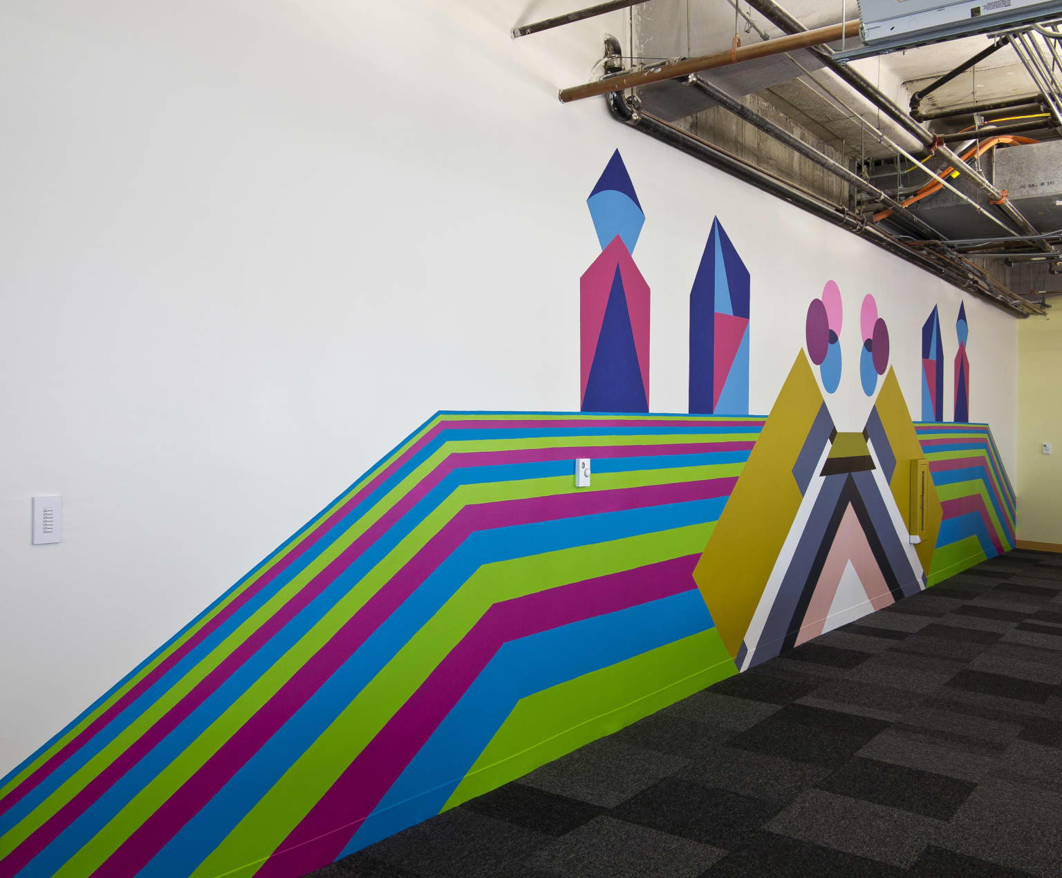 """RGB Equinox"", mural for Facebook offices, Miami, FL"