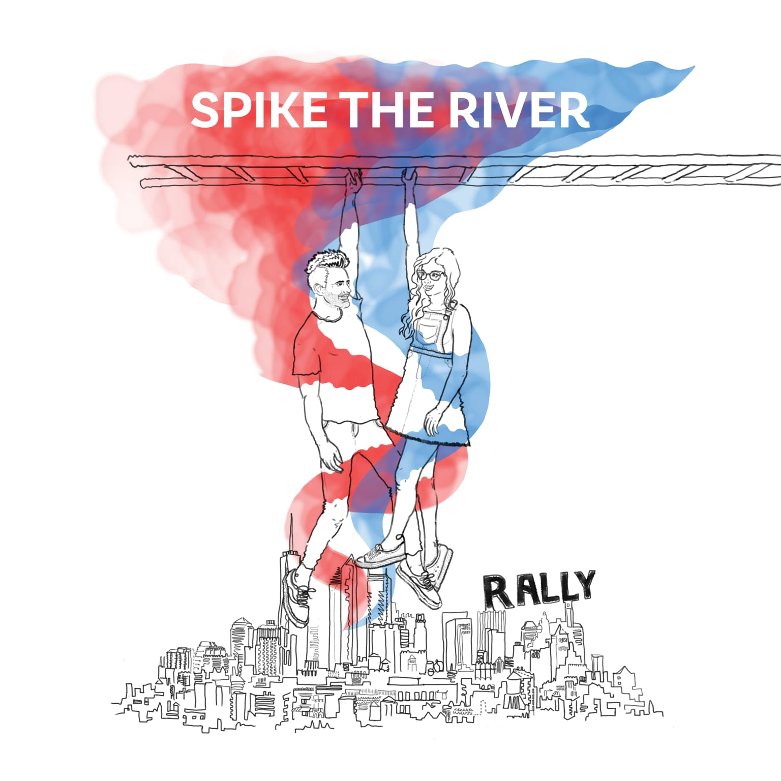 Spike The River album art and identity design