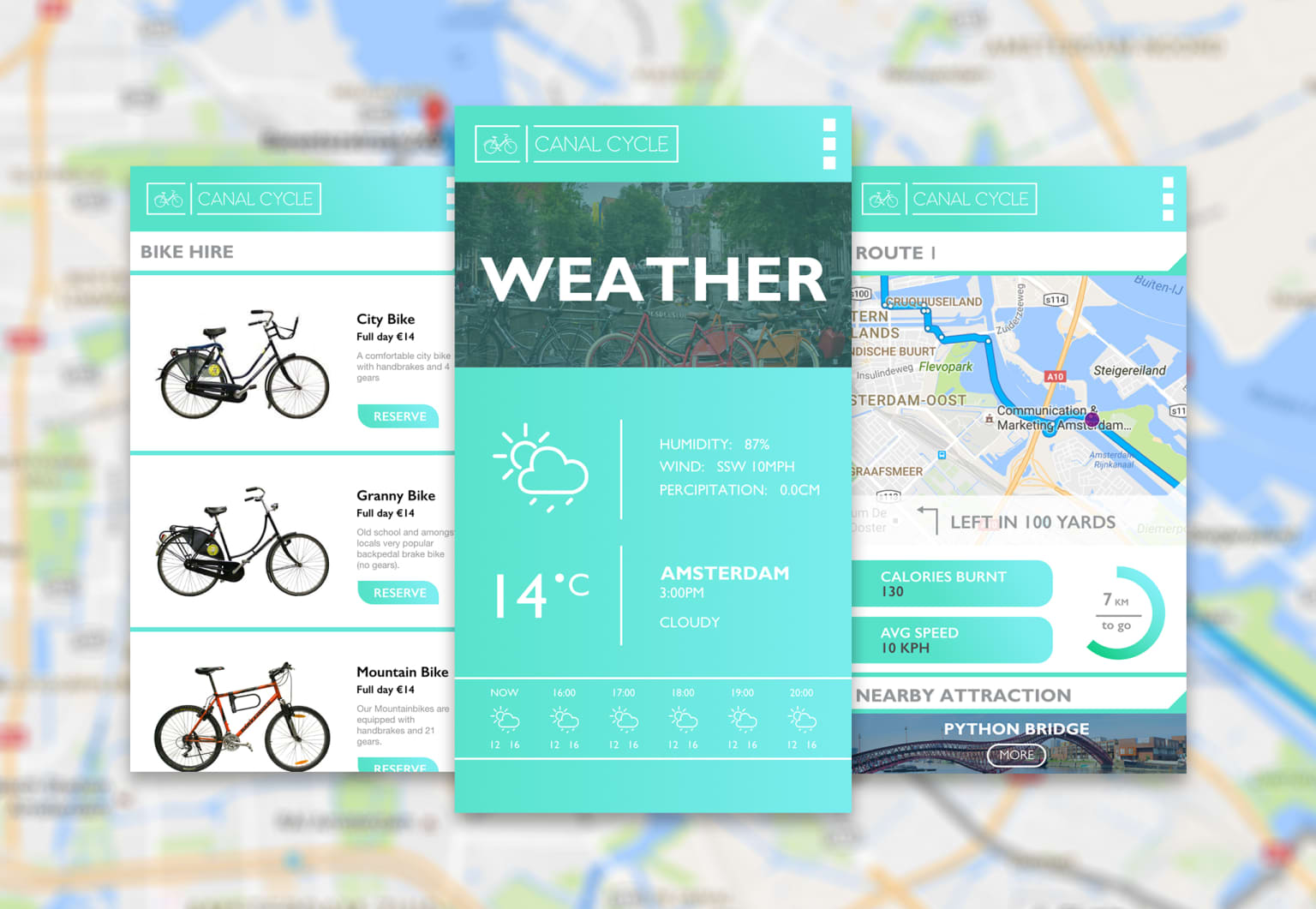 Canal Cycle - Logo Design and Front End App Design