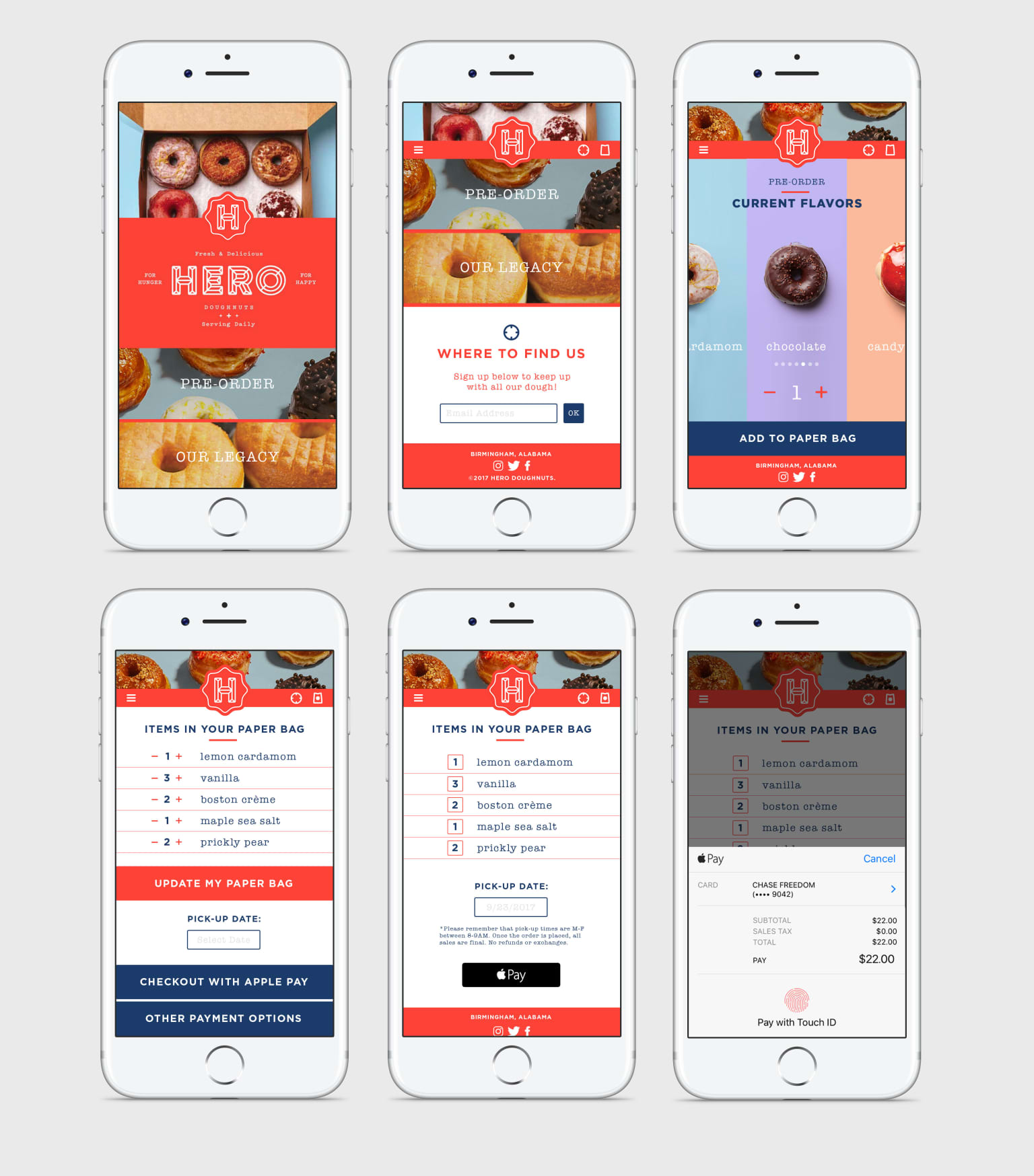Hero Doughnuts Mobile Website Concept