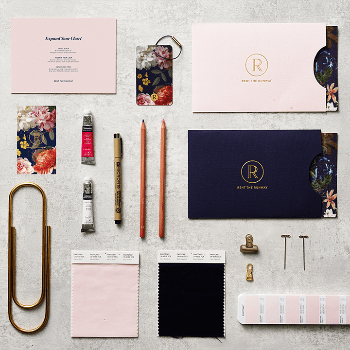 Rent the Runway Packaging & Stationery Design 2014