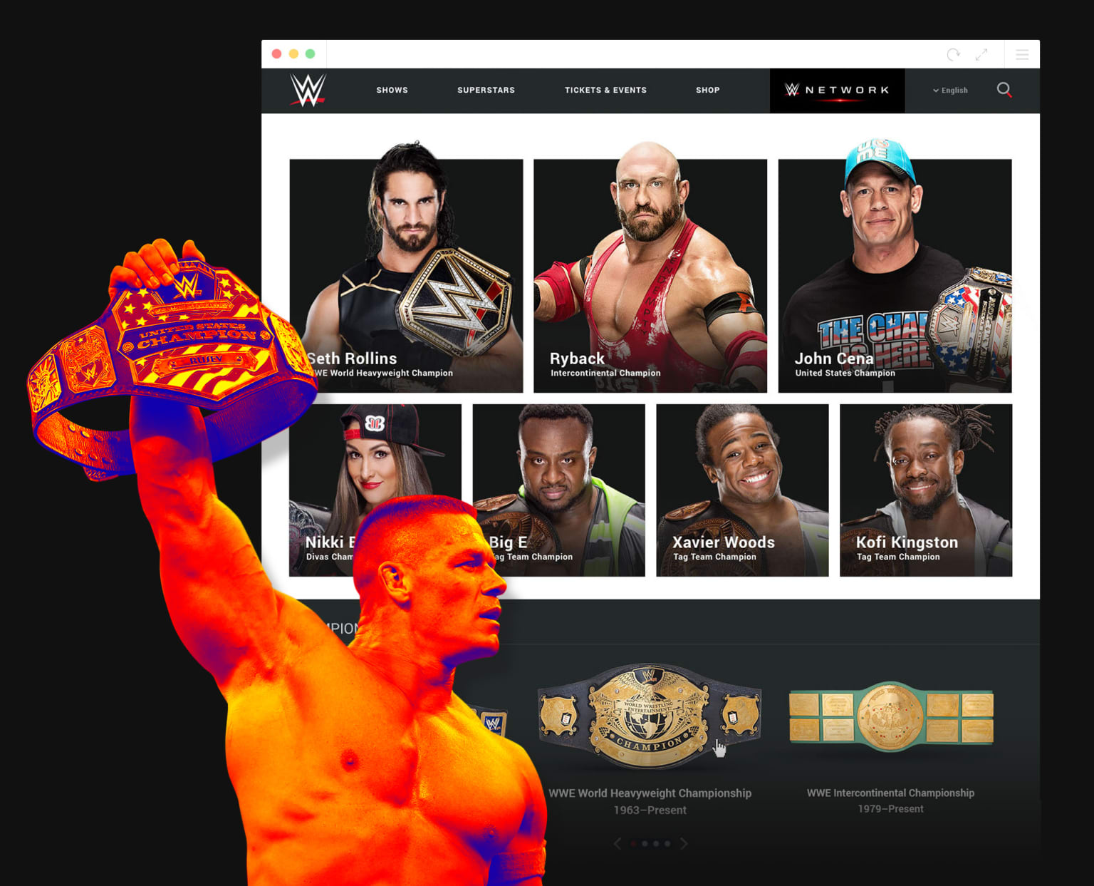 WWE - Responsive Website