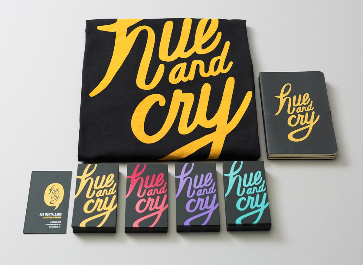 Brand Identity for Hue and Cry
