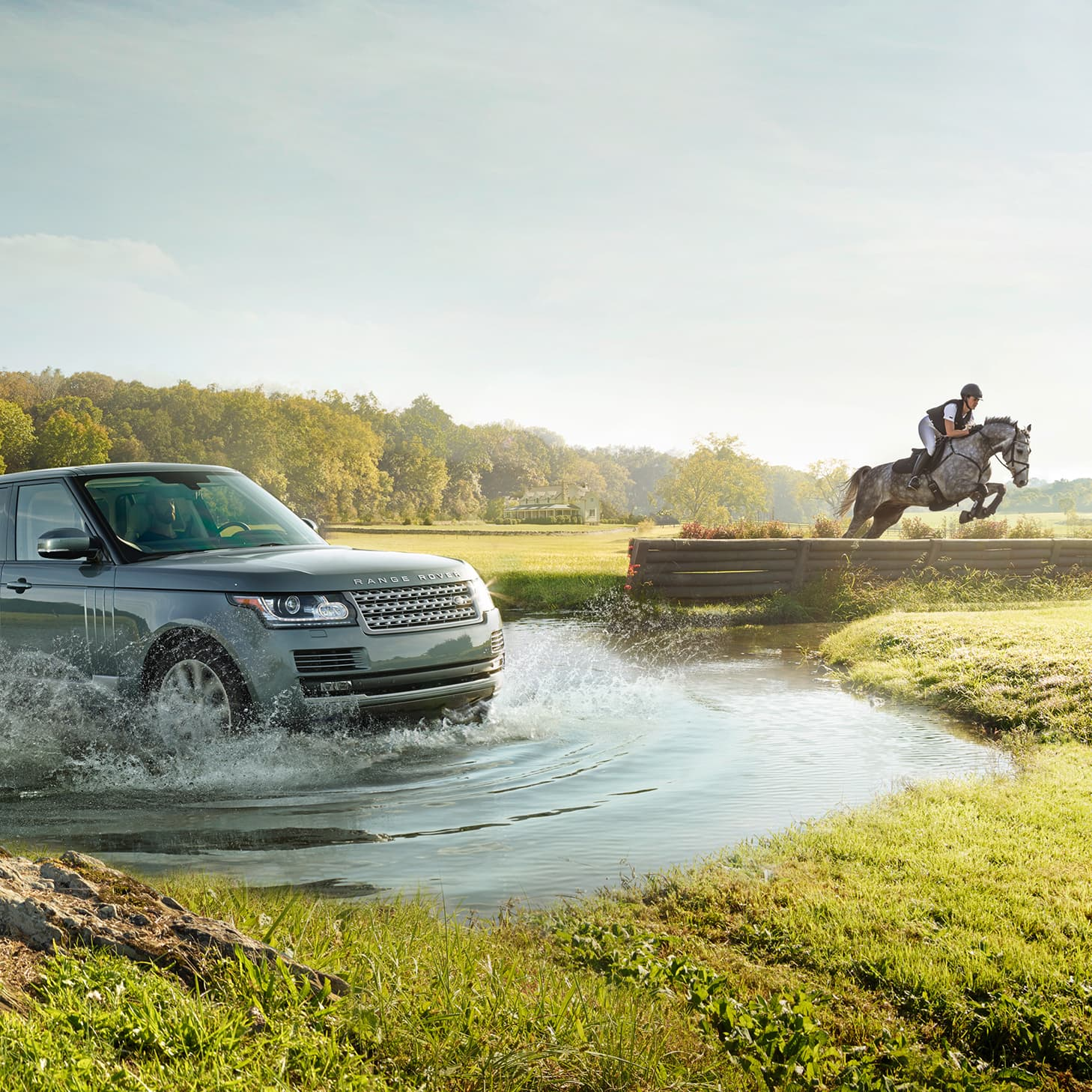 Land Rover Equestrian Print Ad